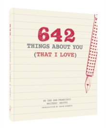 642 Things About You (That I Love), Notebook / blank book Book