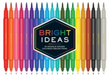 Bright Ideas: 20 Double-Ended Colored Brush Pens : 20 Colored Pens, General merchandise Book