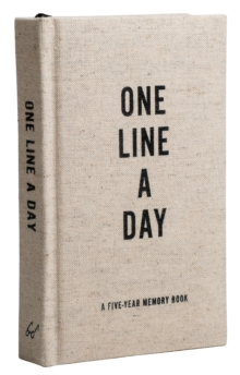 Canvas One Line a Day : A Five-Year Memory Journal, Notebook / blank book Book