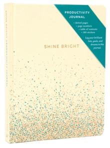 Shine Bright Productivity Journal, Cream, Notebook / blank book Book