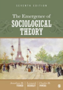 The Emergence of Sociological Theory, Paperback Book