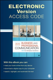 Business and Professional Communication Electronic Version : KEYS for Workplace Excellence, Digital product license key Book