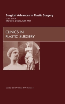 Surgical Advances in Plastic Surgery, Hardback Book