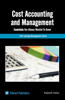 Cost Accounting & Management Essentials You Always Wanted To Know, Paperback Book