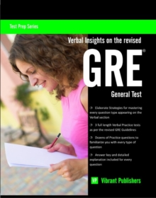 Verbal Insights on the Revised GRE General Test, Paperback / softback Book