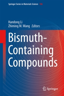 Bismuth-Containing Compounds, Hardback Book
