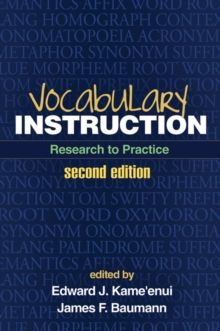 Vocabulary Instruction, Second Edition : Research to Practice, Hardback Book