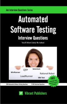 Automated Software Testing Interview Questions You'll Most Likely Be Asked, Paperback / softback Book
