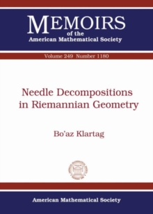 Needle Decompositions in Riemannian Geometry, Paperback / softback Book