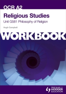 OCR A2 Religious Studies Unit G581 Workbook: Philosophy of Religion, Paperback Book