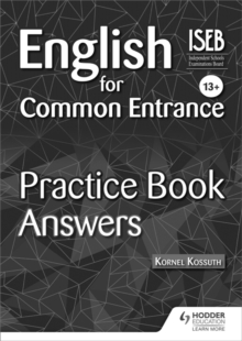 English for Common Entrance 13+ Practice Book Answers, Paperback / softback Book