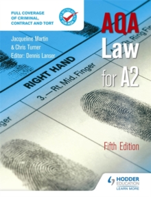 AQA Law for A2 Fifth Edition, Paperback Book