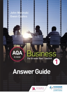 AQA A Level Business 1 Third Edition (Wolinski & Coates) Answers, Paperback Book