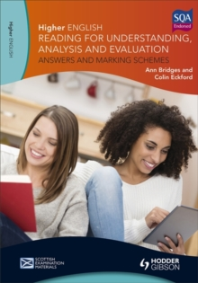 Higher English for CFE: Reading for Understanding, Analysis and Evaluation - Answers and Marking Schemes, Paperback Book