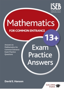 Mathematics for Common Entrance 13+ Exam Practice Answers, Paperback Book