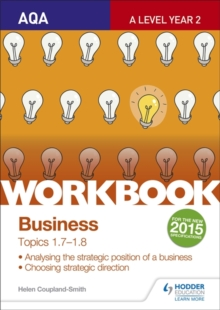 AQA A-level Business Workbook 3: Topics 1.7-1.8, Paperback / softback Book