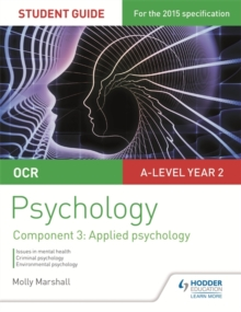 OCR Psychology Student Guide 3: Component 3 Applied psychology, Paperback Book