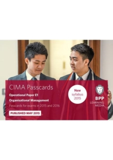 CIMA E1 Organisational Management : Passcards, Spiral bound Book