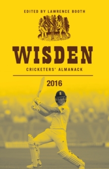 Wisden Cricketers' Almanack 2016, Paperback Book