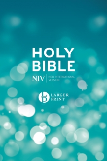 NIV Larger Print Blue Hardback Bible, Hardback Book