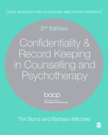Confidentiality & Record Keeping in Counselling & Psychotherapy, PDF eBook