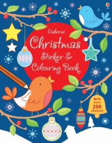 Christmas Sticker and Colouring Book, Paperback Book