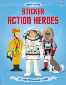 Sticker Dressing Action Heroes, Paperback Book