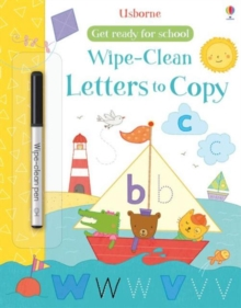 Get Ready for School Wipe-Clean Letters to Copy, Paperback Book