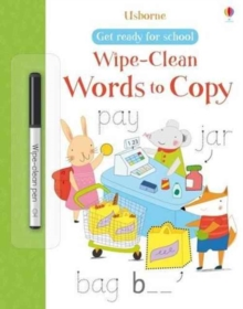 Get Ready for School Wipe-Clean Words to Copy, Paperback Book