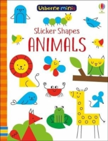 Sticker Shapes Animals x5, Paperback Book
