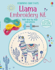 Embroidery Kit: Llama, Kit Book