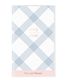 BLUE PLAID 2019 2 YEAR PLANNER, Paperback Book