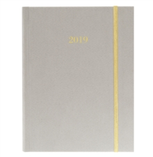 GRAY SUEDE 2019 FABRIC HARBOUND DIARY, Hardback Book