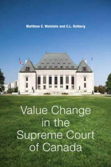 Value Change in the Supreme Court of Canada, Hardback Book