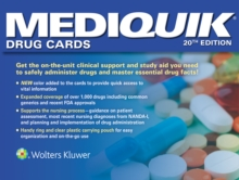 MediQuik Drug Cards, Hardback Book