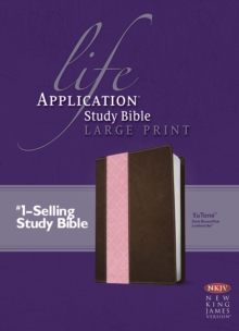 Life Application Study Bible NKJV, Large Print, TuTone, Leather / fine binding Book