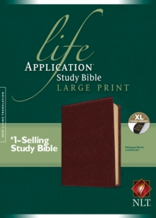 Life Application Study Bible NLT, Large Print, Leather / fine binding Book