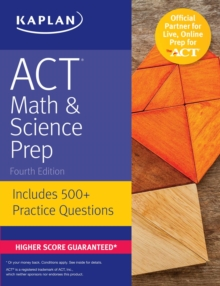 ACT Math & Science Prep : Includes 500+ Practice Questions, EPUB eBook
