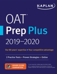 OAT Prep Plus 2019-2020 : 2 Practice Tests + Proven Strategies + Online, EPUB eBook
