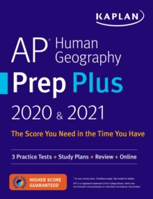 AP Human Geography Prep Plus 2020 & 2021 : 3 Practice Tests + Study Plans + Targeted Review & Practice + Online, EPUB eBook
