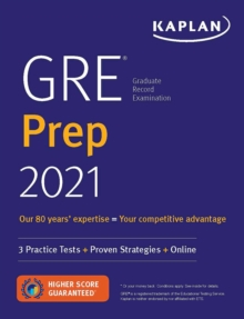 GRE Prep 2021 : 2 Practice Tests + Proven Strategies + Online, Paperback / softback Book