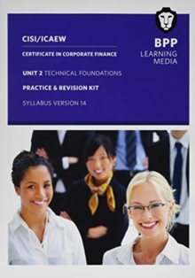 CISI Capital Markets Programme Certificate in Corporate Finance Unit 2 Syllabus Version 14 : Practice and Revision Kit, Paperback / softback Book