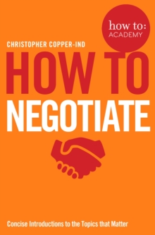 How To Negotiate, Paperback / softback Book