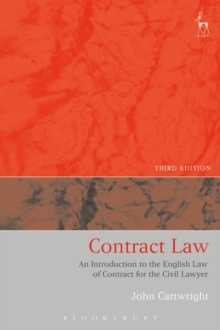 Contract Law : An Introduction to the English Law of Contract for the Civil Lawyer, Paperback / softback Book