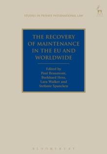 The Recovery of Maintenance in the EU and Worldwide, Paperback / softback Book