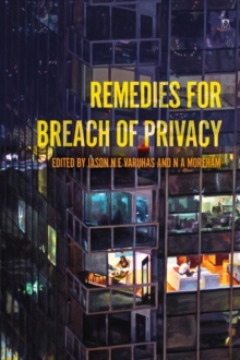 Remedies for Breach of Privacy, Hardback Book