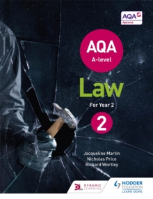 AQA A-level Law for Year 2, Paperback / softback Book