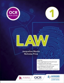 OCR AS/A Level Law Book 1, Paperback Book
