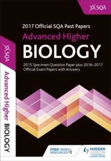 Advanced Higher Biology 2017-18 SQA Past Papers with Answers, Paperback Book