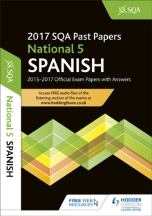 National 5 Spanish 2017-18 SQA Past Papers with Answers, Paperback Book